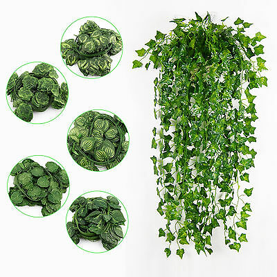 12X7.5ft Artificial Ivy Vine Fake Foliage Dried Flower Leaf Garland Plant Decor