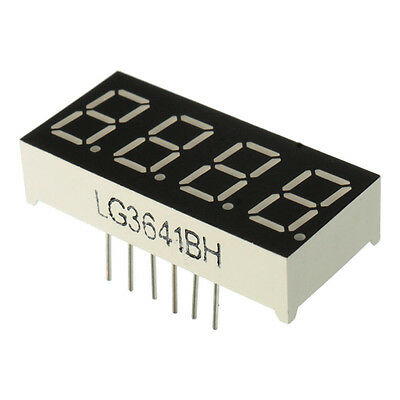 0.36'' 7 Segment 4 Digit Common Anode 0.36 inch RED LED digital display