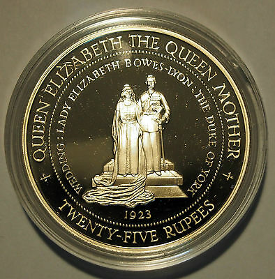 1994 Seychelles - 25 Rupees - Lady of the Century Silver Proof Coin in Capsule