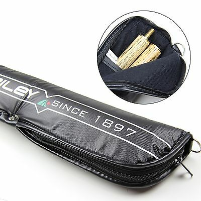 Riley Black Padded Soft 2pc Snooker Pool Cue Case