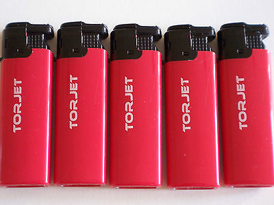Tor Jet X 5 Red Lighter Windproof Torch Flame Refillable Electronic Torjet