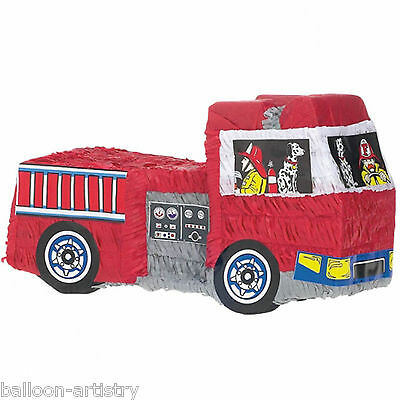Classic Red Fire Engine Truck BASH Pinata Children's Party Game Decoration
