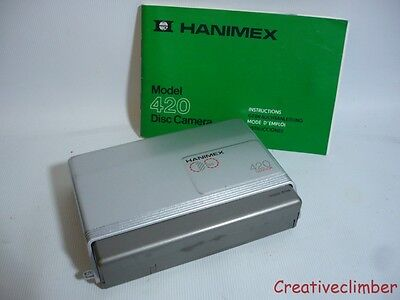 1980s Hanimex 420 Sensor Disc Film Camera + Manual