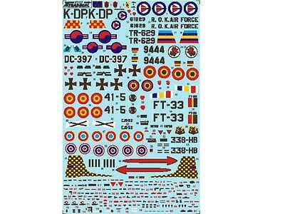 Xtradecal 1/72 72122 Lockheed T-33A Part 3, Foreign Operators