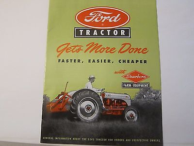 Ford Tractor Brochure Dearborn Farm Equipment Gets More Done LOTS More Listed