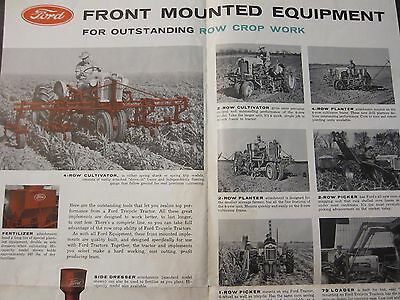Original 1956 Ford Brochure 900 & 700 Series Tricycle Tractors LOTS More Listed