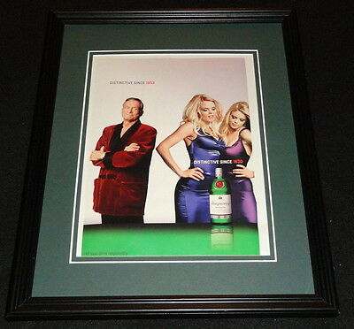 Hugh Hefner 2003 Tanqueray Framed 11x14 ORIGINAL Vintage Advertisement