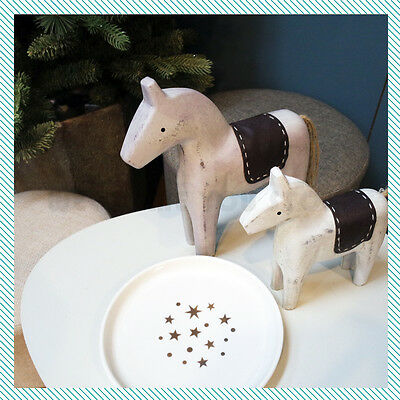 23cm Vintage Style Swedish Dala Horse Style Sweden Art Hand Crafted Home Decor