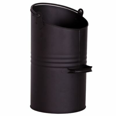 Coal Hod Black Metal Wood Scuttle Fireside Fireplace Bucket Bin By Home Discount