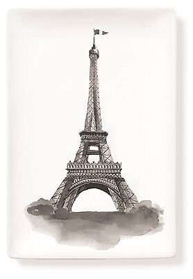 "Tray - Porcelain w/Eiffel Tower Design, 4 1/4"" x 6 1/4""  French,Fun,Functional!"