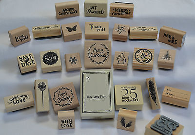 East Of India RUBBER CRAFT STAMP Christmas Gift Tags Special Occassion Weddings