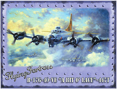 New FLYING FORTRESS enamel style tin metal advertising sign small 15x20cm