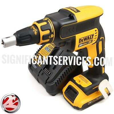 DEWALT 20V Max XR Cordless Li-Ion Brushless Drywall Screwgun Kit DCF620D2 NEW