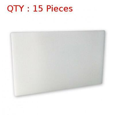 15 New Premium Heavy Duty Plastic White Pe Cutting / Chopping Board 610X915X25mm