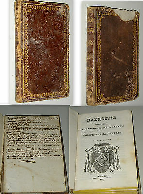 Esercizi Spirituali Exercitia spiritualia canonicorum regularium salvatoris 1835
