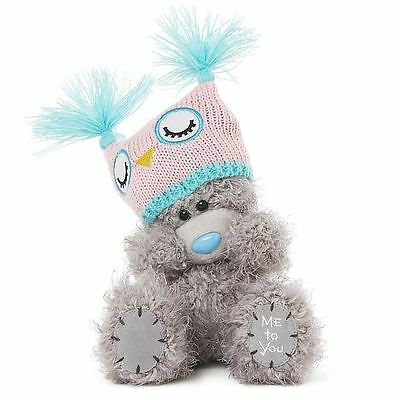"Me to You 7"" Plush Bear & Knitted Owl Hat - Tatty Teddy"