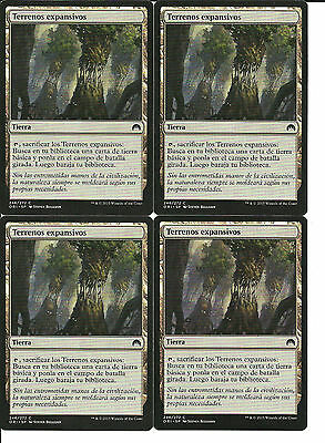 mtg Magic 4x Evolving Wilds ( Terrenos expansivos ) Spanish NM- Magic Origins