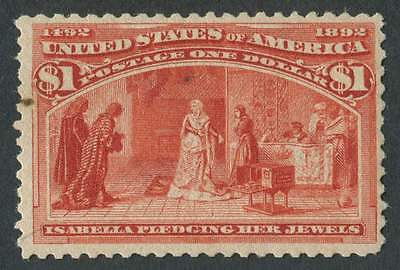 USA 1893 SG.246 $1 Unmounted Mint - Tiny Stain L/H side