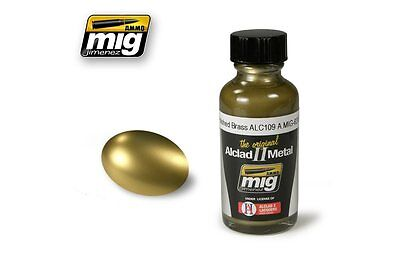 AMMO OF MIG A.MIG-8206 ALC109 Polished Brass Lacquer 30ml ALCLAD II
