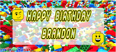 Lego inspired, Building Blocks Personalized Banner Birthday party supplies