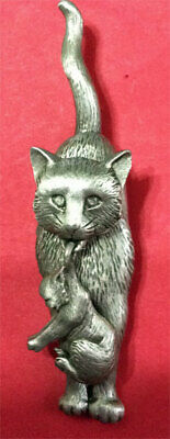 Cat Holding Kitten Brooch Pin Jonette Original!