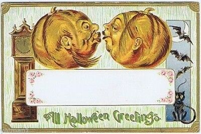 All Halloween Greetings, Embossed German Hallowe'en Series Post Card, 1912