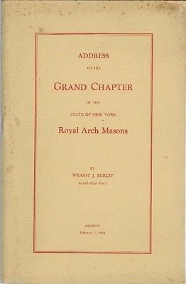Address & Report to the Grand Chapter of the State of NY Royal Arch Masons 1943
