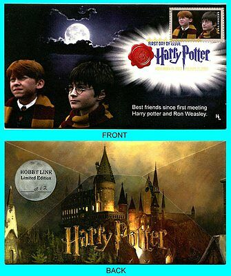 Harry Potter Ron and Harry  First Day Cover with Color Cancel Type 1