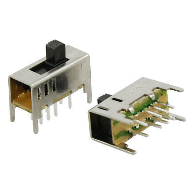 5 Pcs x 3 Position On/On/On 2P3T DP3T Mini Vertical Slide Switch 8 Pin PCB DIY