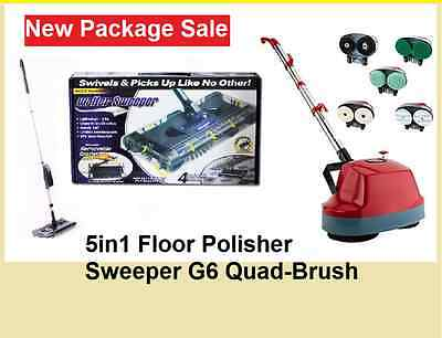 NEW 5 in1 Floor Polisher Machine & Electric Cordless Swivel Walter Sweeper