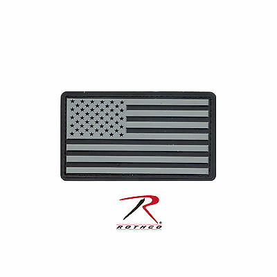 27784 Rothco PVC US Flag Patch With Hook Back