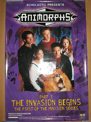 ANIMORPHS The Invasion Begins, promotional poster, 1998, 27x40, EX