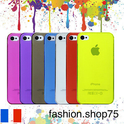 HOUSSE COQUE 0.3mm Ultra Fin Transparent Couleur iPHONE
