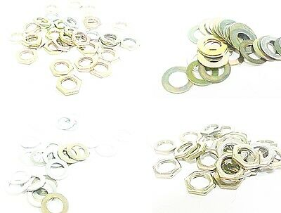 Hex Nuts, Washers For Potentiometers Jacks Switches For Alpha Pots & More  E003