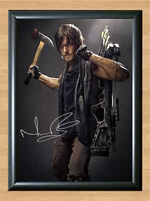 Norman Reedus Daryl Dixon The Walking Dead Signed Autographed A4 Print Photo TV