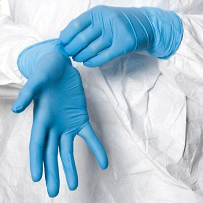 100 Shield™ Nitrile Disposable Powder Free Gloves (Non Latex Vinyl Exam) Large