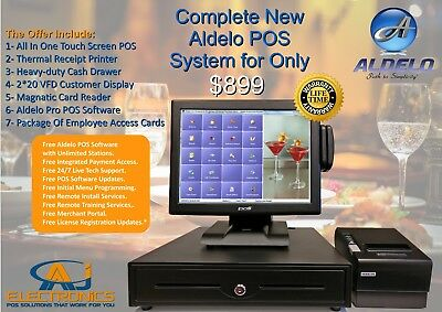 Complete ALDELO Pro POS System,PIZZERIA,BAR & NIGHT CLUB, Fine Dining Restaurant