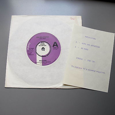 """Deep Purple Reflections Love and Affection Demo + Insert 7"""" single"""