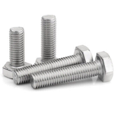 M6 (6mm) A4 MARINE GRADE STAINLESS FULLY THREADED BOLT SCREW HEXAGON HEX SET