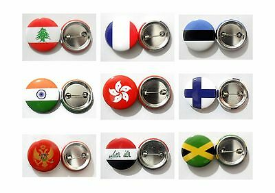 Country Flag lapel Pin Button Badge Fashion Tin Plate Badge National Emblem