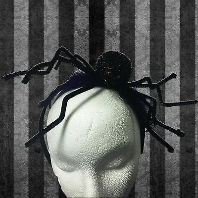 Gisela Graham Halloween Spider Headband Boppers Hair Band Fancy Dress Accessory