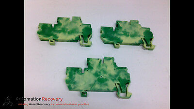 Wago 870-107 - Pack Of 3 -  Green/Yel Terminal Block 2.5Mm2, New* #201479