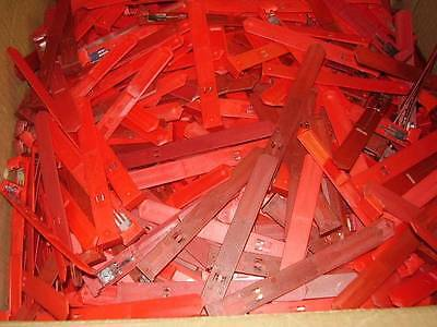 Lot of 819 Red Tag DVD Case Locks - Security clips