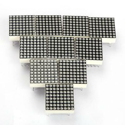 10PCS LED Dot Matrix Display Module Red 16Pin 8x8 Common Anode 19mm*19mm*13mm #G