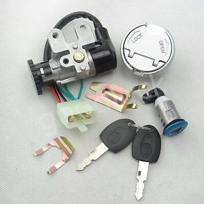 Key Switch Ignition Lock Kit Gas Cap Latch For 50cc GY6 Chinese Scooter Moped