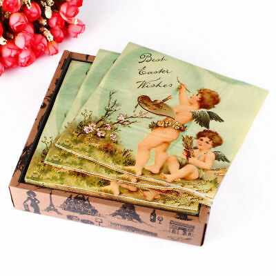 High Quality Angle Cupid Paper Napkins Serviettes Tableware Decoupage 02-A1