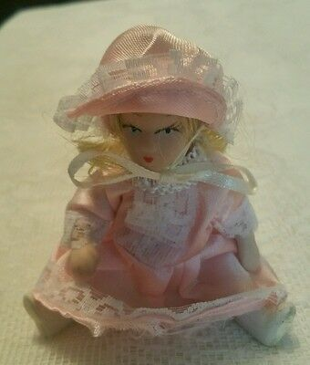 Miniature All Porcelain Doll ~  Moveable Arms & Legs ~ 3 Styles Available