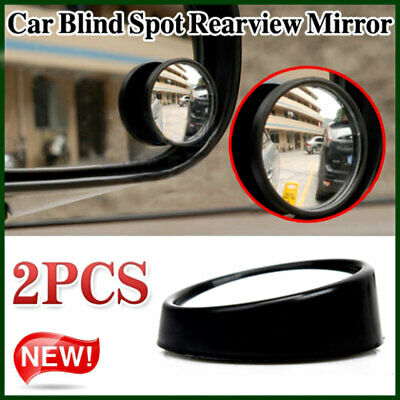 """2pcs Black 2.2"""" Round Convex Car Vehicle Wide Angle Blind Spot Rear View Mirror"""
