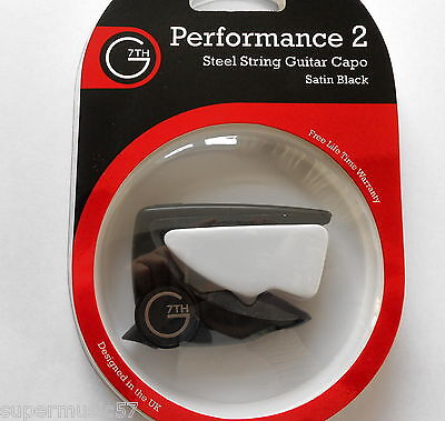 Black G7Th Performance 2. Capo For Acoustic Or Electric Guitar - New Model
