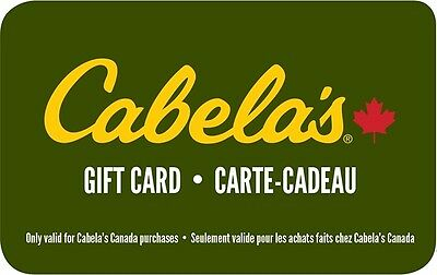 Cabela's Gift Card- $25 Mail Delivery